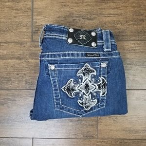 Miss Me Easy Crop Jeans Sz 29